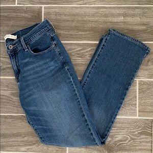 Levi's 505 straight leg medium wash jeans